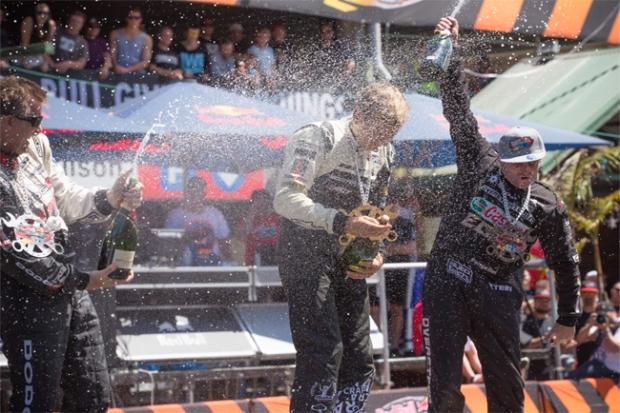 (Matt Powers takes victory at Red Bull Drift Shifters with the Seibon Carbon equipped S14. Photo credit: Redbull.co.nz)