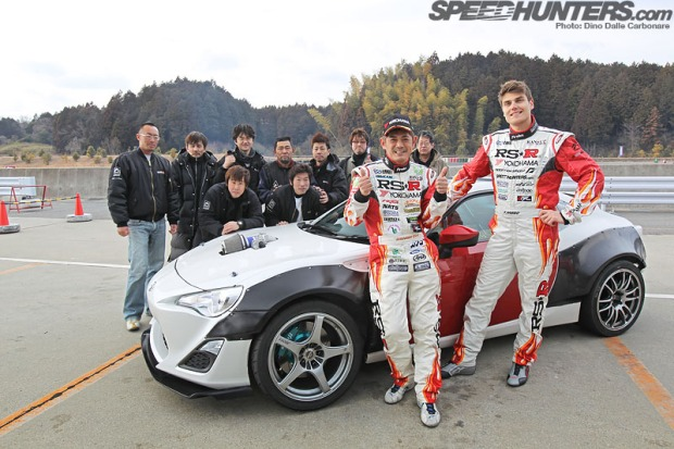 "Photo credit: Speedhunters.com. Pictured: RS-R team and drivers Manabu ""Max"" Orido(left) and Fredric Aasbo(right)."