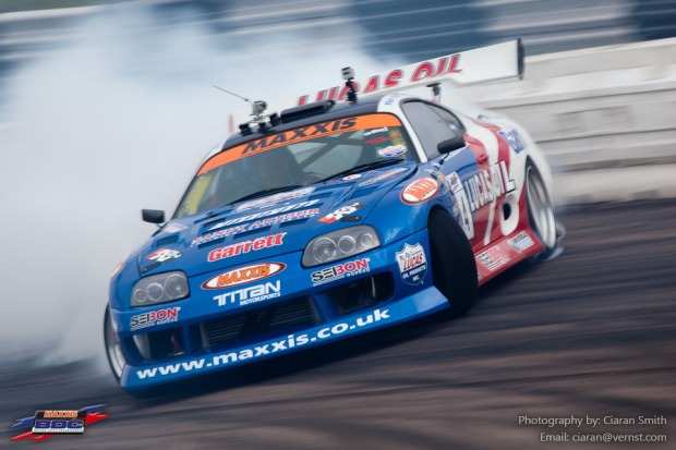 Lucas Oil UK/ Seibon Carbon Toyota Supra at Round 1 of the Maxxis British Drift Championship.