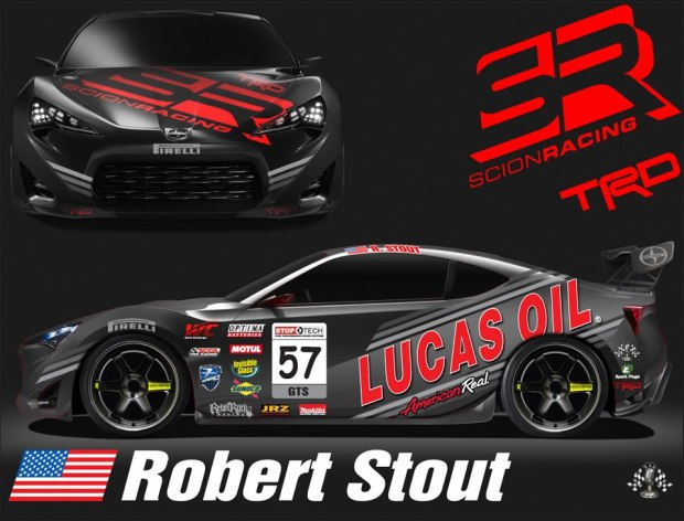 Robert Stout's competition Scion FRS. Photo credit: Robertstoutracing.com.