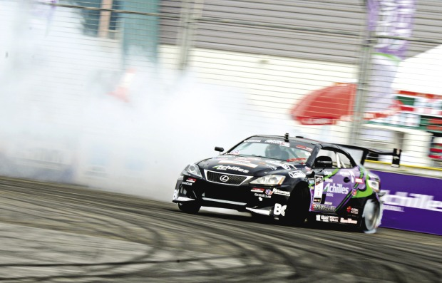 Daigo Saito in his Formula Drift competition car. Photo credit: PASMAG.com