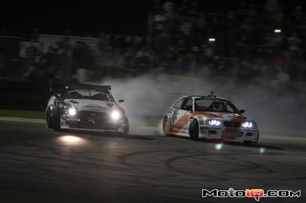 (Seibon driver Daigo Saito vs. Michael Essa in the Final Battle. Photo credit: MotoIQ.com)