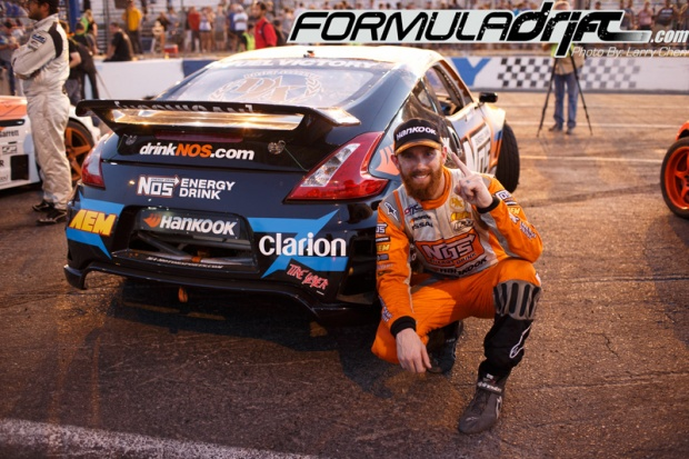 Chris Forsberg in the Seibon equipped Nissan 370Z. Photo credit: Formuladrift.com