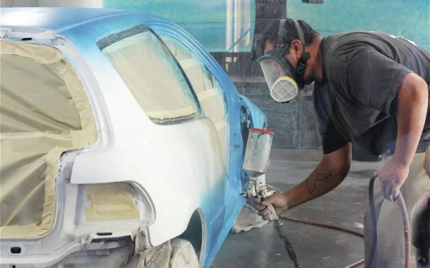 Project Sipper getting paint and body work at to Chuck's Creations Paint and Autobody. Photo credit: Import Tuner.com.