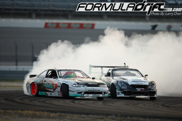 Matt Powers (S14) against Daigo Saito. Photo credit: Formula Drift.com