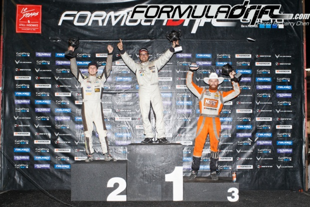 Chris Forsberg finishes in 3rd place at Round 6 of Formula Drift. Photo credit: Formula Drift.com.