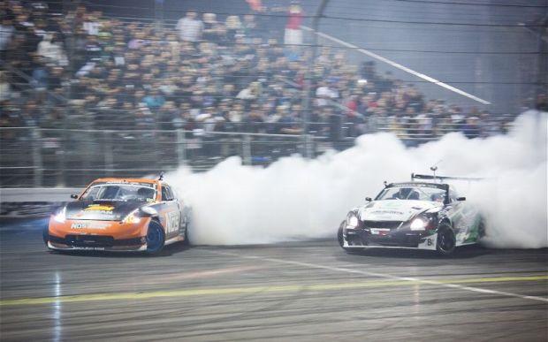 Seibon Carbon drivers Chris Forsberg (370Z) vs. Seibon driver Daigo Saito (SC430). Photo credit: Super Street.com