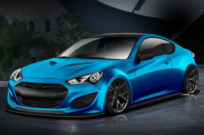Hyundai-Genesis-Coupe-JP-Edition-SEMA-front-three-quarter-rendering-796x528