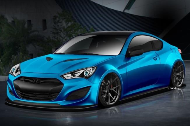 Hyundai-Genesis-Coupe-JP-Edition-SEMA-front-three-quarter-rendering-796x528