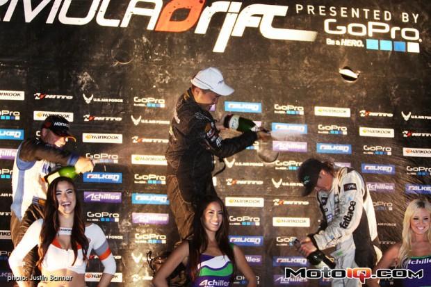 Seibon Carbon driver Daigo Saito takes the podium at Round 7. Photo credit: Super Street.com