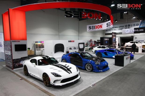 Seibon Carbon's SEMA 2013 booth.