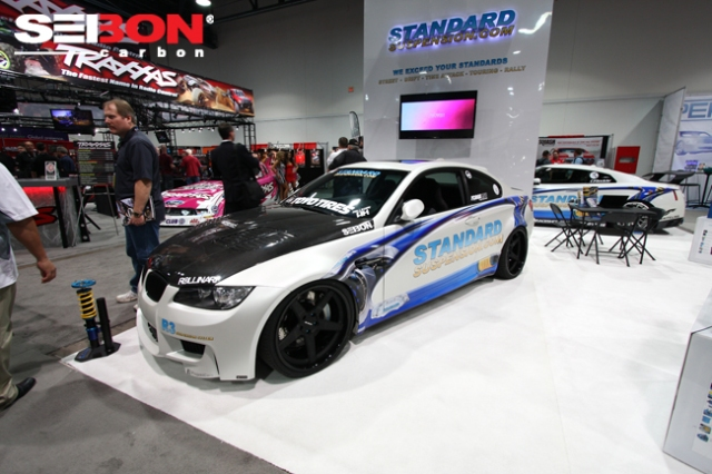 BMW featuring Seibon Carbon hood and trunk.