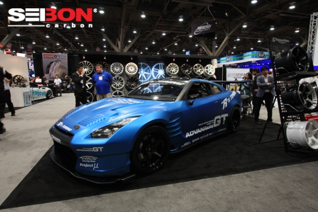 The R's Tuning Nissan GTR running Seibon Carbon doors, door sills, and engine bay cover.