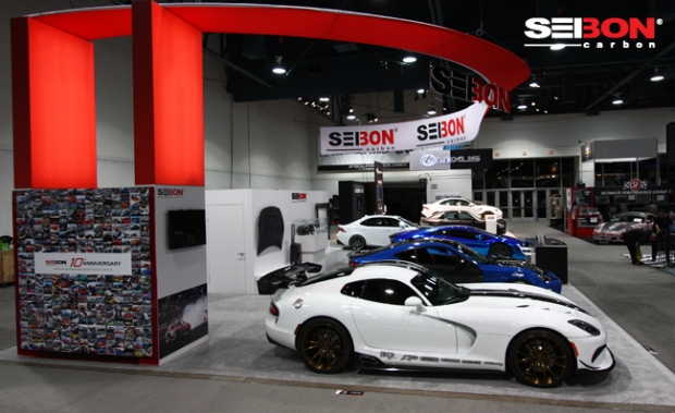 Seibon Carbon Dodge Viper at SEMA 2013.