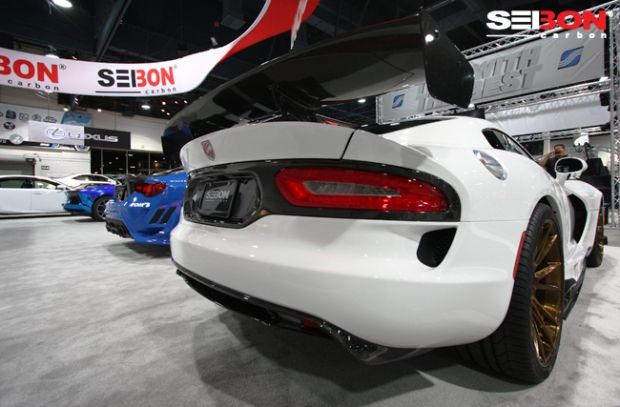 Seibon Carbon AG-style rear diffuser and GT wing (71'' Wide).