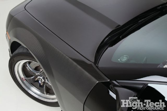 Seibon Carbon OEM-hood, ST-style trunk lid, and OEM-style fenders. Photo credit: gmhightechperformance.com.