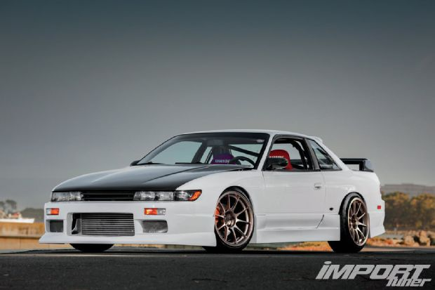 Import tuner feature second chance silvia 92 nissan 240sx s13 seibon carbon
