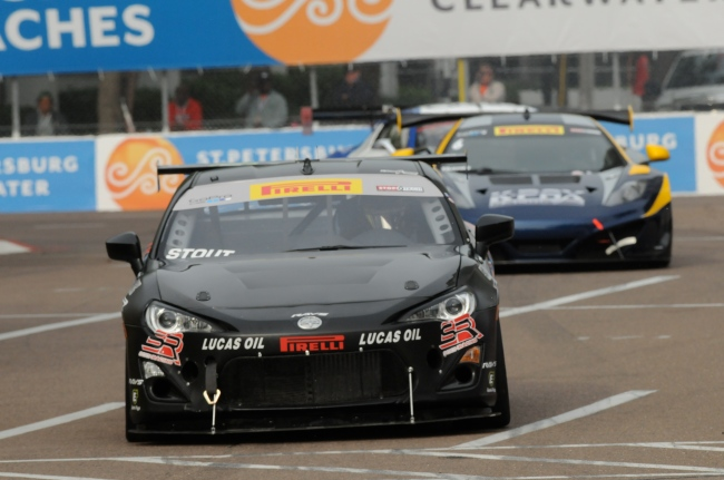 KSR FR-S running a Seibon Carbon DV-style hood. Photo credit: KSR racing.