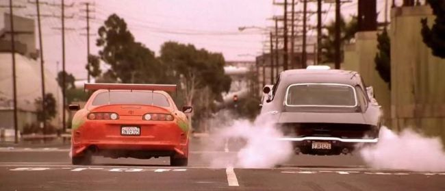 The Fast and The Furious Toyota Supra  VS 1970 Dodge Charger Jump-1