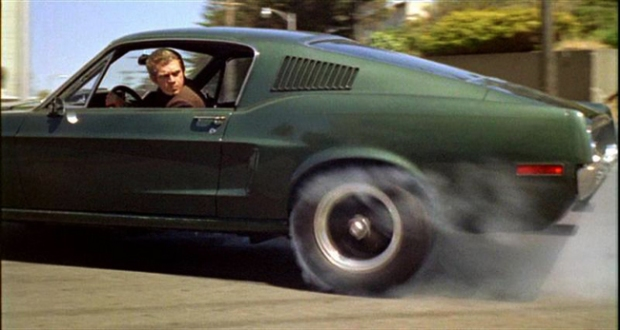 Chase scene from Bullitt movie. Photo credit: The Mustang Source.com.