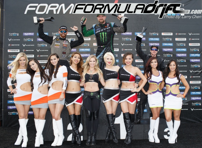 (Seibon Carbon driver Chris Forsberg takes 2nd place at Round 3. Photo credit: Formula Drift.com)