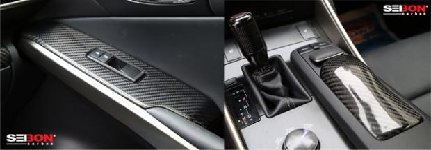 lexus is interior carbon fiber pieces