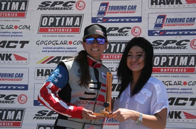 Michele Abbate receives Race Ramps Award and the Specialty Products Company Award. Photo credit: m1cheleabbate.com