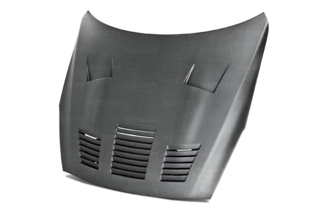 Seibon Carbon Nissan GTR GT-style dry carbon hood.