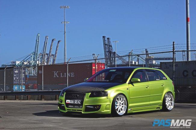 Seibon Carbon Audi A3 carbon fiber hood.