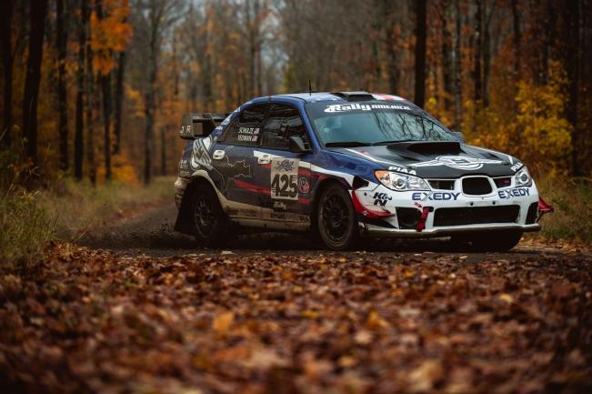 FY Racing's Subaru Seibon dry carbon hood, fenders, trunks, and doors.