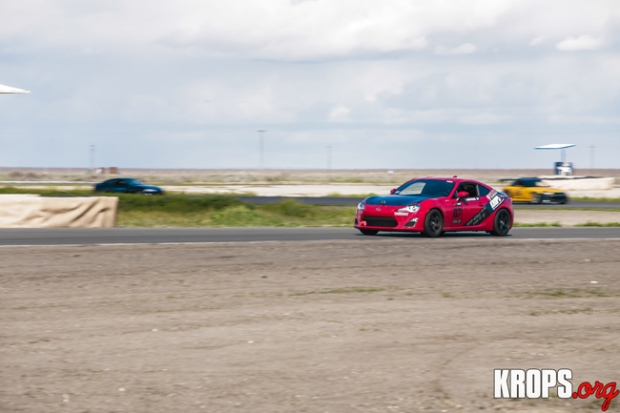 K.R.O.P.S. BRZ runs a Seibon Carbon OEM-style hood and CSL-style trunk. Photo credit: KROPS.org
