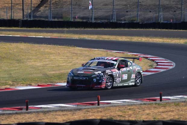 Michele Abbate racing her scion FRS at Portland International Raceway